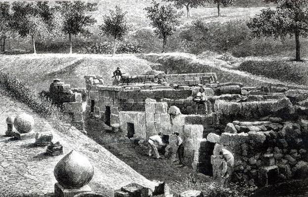 Etruscan Tombs excavated by Signor Mancini at Orvieto