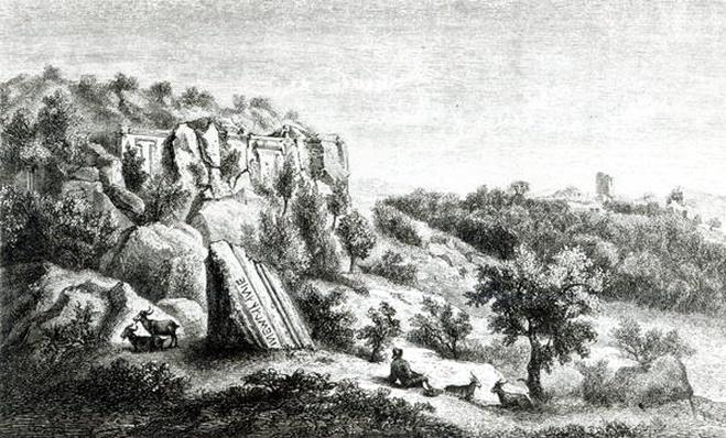 Castel d'Asso, from the Necropolis