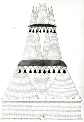Reconstruction of Tomb of Lars Porsenna at Clusium according to the description in Pliny
