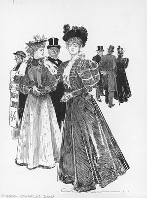 Illustration By Charles Dana Gibson  | The Gilded Age (1870-1910) | U.S. History