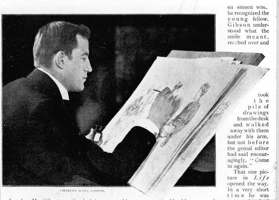 Charles Dana Gibson Draws | The Gilded Age (1870-1910) | U.S. History