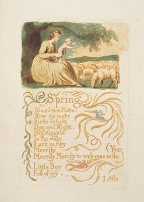'Spring', plate 12 from 'Songs of Innocence and Experience', after William Blake