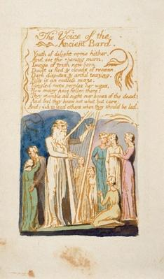 'The Voice of the Ancient Bard', plate 16 from 'Songs of Innocence and Experience', after William Blake