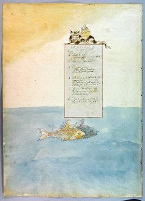 'Ode on the Death of a Favourite Cat', design 8 for 'The Poems of Thomas Gray', 1797-98