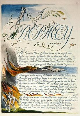 'A Prophecy', plate 5 from 'America: A Prophecy', 1793