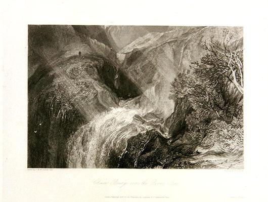 Chain Bridge over the River Tees, 1838