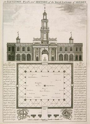 An Elevation, Plan and History of the Royal Exchange of London