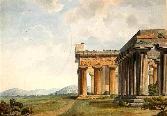 Views in the Levant: Temple Ruins at Paestum, c.1785