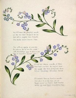 Poetry, from an 'Album of Poems, Graphite Drawings & Watercolours', c.1828