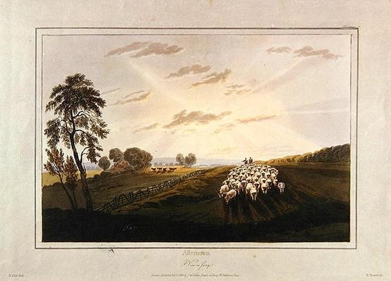 Afternoon, A View in Surrey, illustration from 'A Treatise on Landscape Painting and Effect in Water Colours', 1841