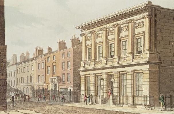 The London Commercial Sale Rooms, from 'R.Ackermann's Repository of Arts' 1813