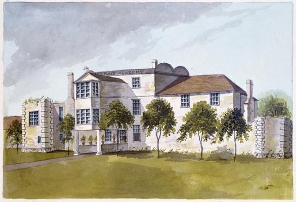 View of Sir Noel de Caron's House, 1809
