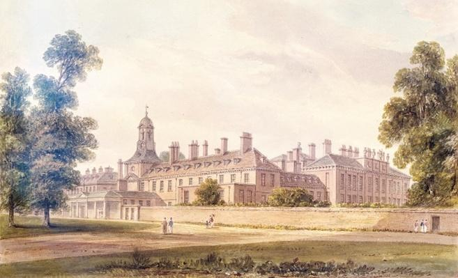 The South-West view of Kensington Palace, 1826