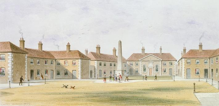 View of Charles Hopton's Alms Houses, 1852