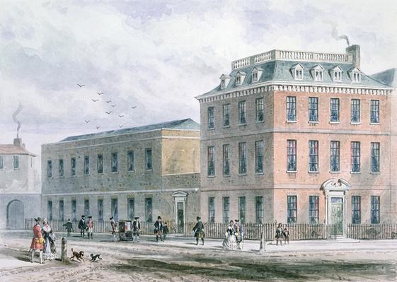 View of Soho Square and Carlisle House