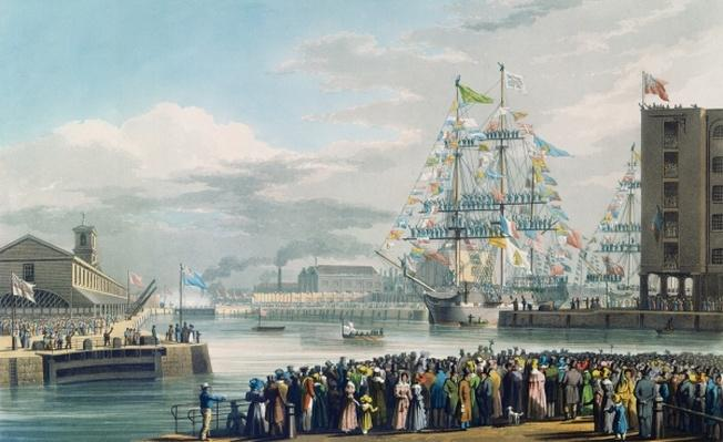 The Opening of St. Katharine Docks, Saturday the 25th October 1828