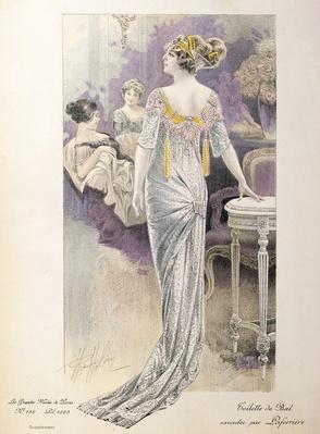 Ball gown, from 'Les Grandes Modes de Paris'