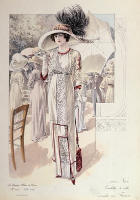 A town dress, from 'Les Grandes Modes de Paris'