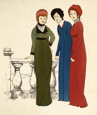 Three ladies in dresses
