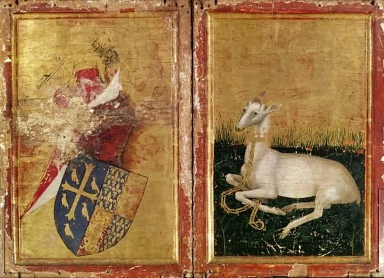 Coat of Arms and White Hart, from 'The Wilton Diptych' c. 1395-99