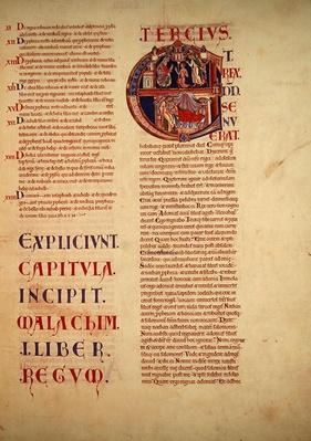 Page from the Winchester Bible, c. 1150-80