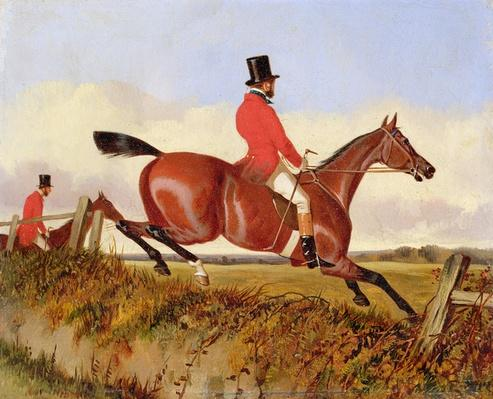 Foxhunting: Clearing a Bank, c.1840