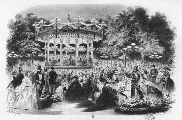Musard concert at the Champs-Elysees, 1865