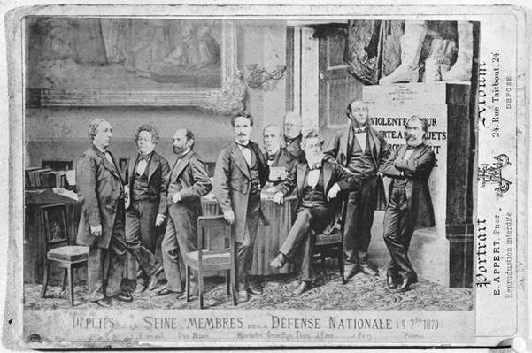 Seine deputies, members of the National Defence Government on 4th September 1870, 1870