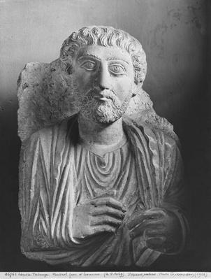 Funerary relief of a male figure, from Palmyra, Syria, third century CE