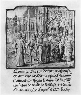 T.2 fol.311v Marriage of Charles VI