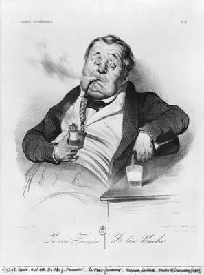 A true smoker, from the series 'Galerie physionomique', 1836