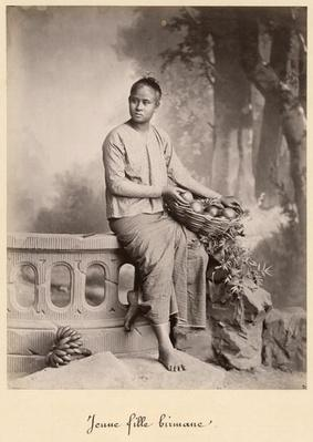 Young Burmese girl, c.1880