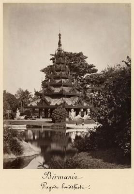 Buddhist rest house, Moulmein, Burma, c.1875