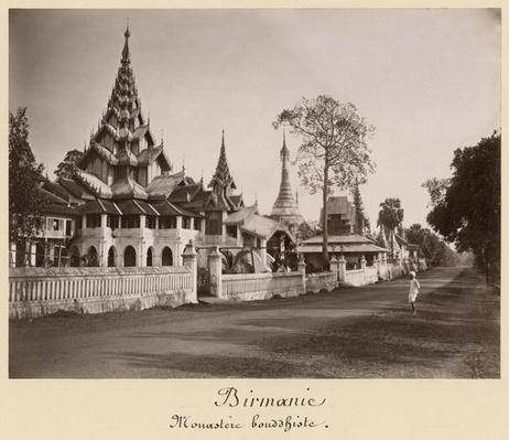 Wayzayanda monastery and pagodas at Moulmein, Burma, c.1890