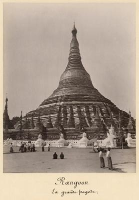 The Shwedagon Pagoda at Rangoon, Burma, c.1860