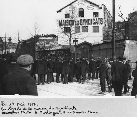 The surroundings of the Maison des Syndicats, Paris, 1st May 1912
