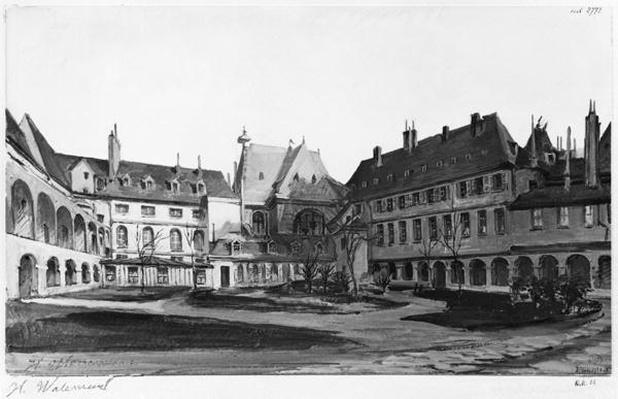 View of the Maternite Port-Royal, the cloister, 1905