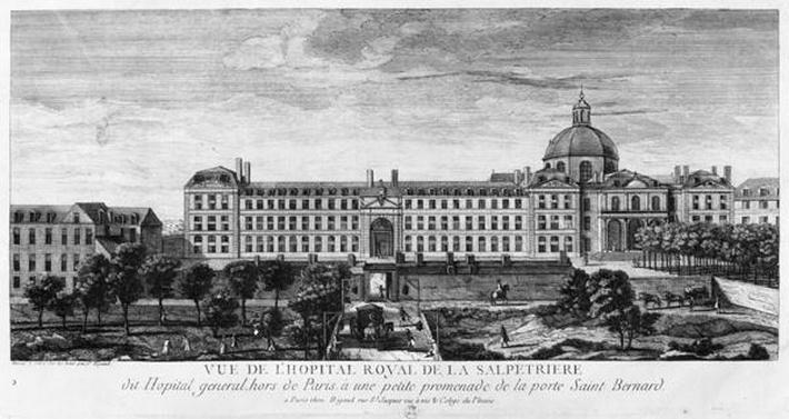 View of Hopital Royal de La Salpetriere, known as Hopital General, Paris