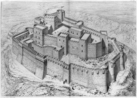 The Krak des Chevaliers, reconstruction