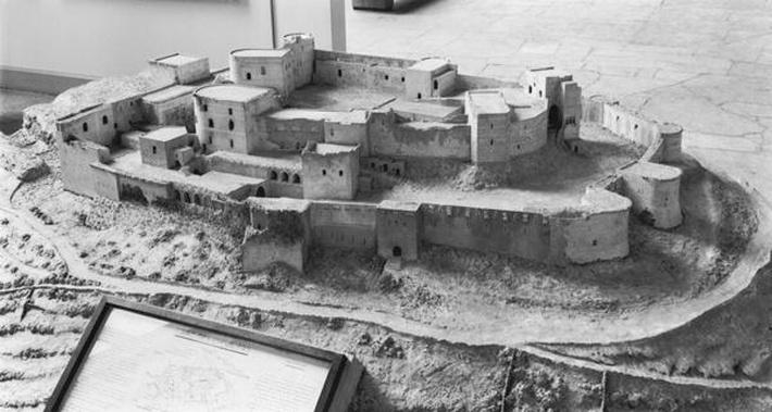 Model of The Krak des Chevaliers, model