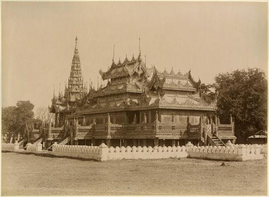 The Nan-U Human-Se, Shwe-Kyaung in the palace of Mandalay, Burma, late 19th century
