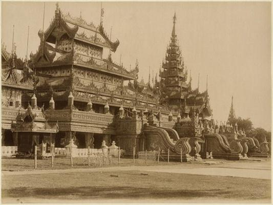 The Hman Kyaung or the glass monastery, Burma, c.1890
