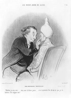Series 'Les beaux jours de la vie', A happy find, plate 23, illustration from 'Le Charivari', 11th September 1844