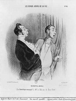Series 'Les beaux jours de la vie', A new nobleman, plate 66, illustration from 'Le Charivari', 2nd July 1845