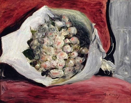 Bouquet in a theatre box, c.1878-80