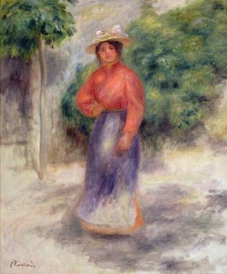 Gabrielle in the garden, c.1905 ?