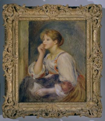 Woman with a letter, c.1890