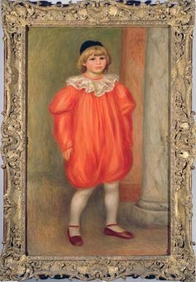 Claude Renoir in a clown costume, 1909