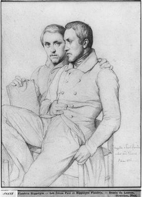 Double portrait of Hippolyte and Paul Flandrin, 1835