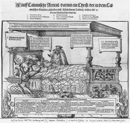 John Calvin on his death bed